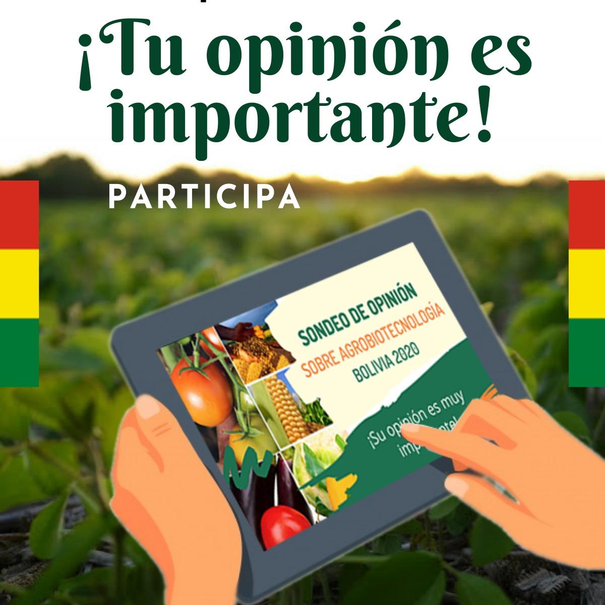 SONDEO DE OPINIÓN SOBRE  AGROBIOTECNOLOGÍA - BOLIVIA 2020