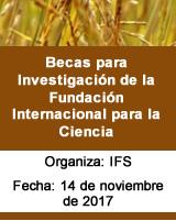 Becas para Investigación de la Fundación Internacional para la Ciencia