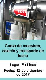 Curso de muestreo, colecta y transporte de leche
