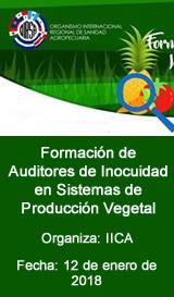 Formación de Auditores de Inocuidad en Sistemas de Producción Vegetal