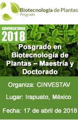 Posgrado en Biotecnología de Plantas – Maestría y Doctorado