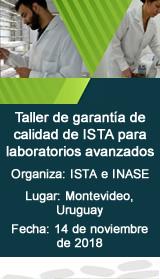 Taller de garantía de calidad de ISTA para laboratorios avanzados