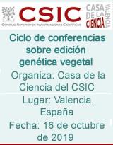 Ciclo de conferencias sobre edición genética vegetal
