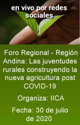 Foro Regional - Región Andina: Las juventudes rurales construyendo la nueva agricultura post COVID-19