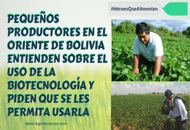 Pequeños productores en Bolivia piden utilizar la biotecnología para producir alimentos