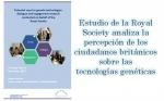 Estudio de la Royal Society analiza la percepción de los ciudadanos británicos sobre las tecnologías genéticas