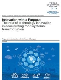 Innovación con un Propósito:  El papel de la innovación tecnológica en la transformación acelerada de los sistemas alimentarios