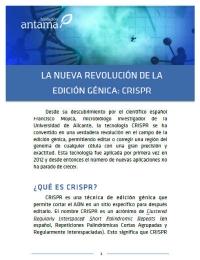La nueva revolución de la edición génica: CRISPR