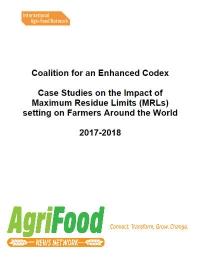 Estudios de casos sobre el impacto de los límites máximos de residuos (LMR) en agricultores de todo el mundo
