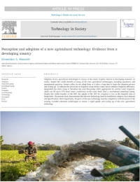 Percepción y adopción de una nueva tecnología agrícola: Evidencia de un país en desarrollo