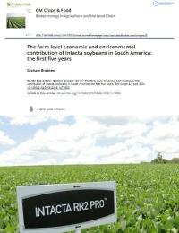 La contribución económica y ambiental a nivel de granja de la Soya Intacta en América del Sur: Los primeros cinco años