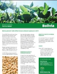 Hechos y tendencias en agrobiotecnología - Bolivia