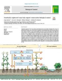 Los cultivos de ingeniería genética ayudan a apoyar el control biológico de conservación