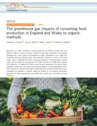 El impacto de los gases de efecto invernadero de convertir la producción de alimentos en Inglaterra y Gales a métodos orgánicos
