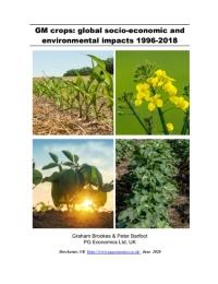 Cultivos modificados genéticamente: Impactos socioeconómicos y ambientales mundiales 1996-2018