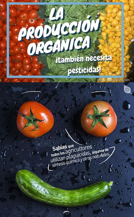 Los alimentos orgánicos también necesitan pesticidas