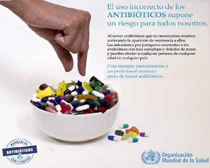 Uso incorrecto de antibióticos supone un riesgo para todos nosotros