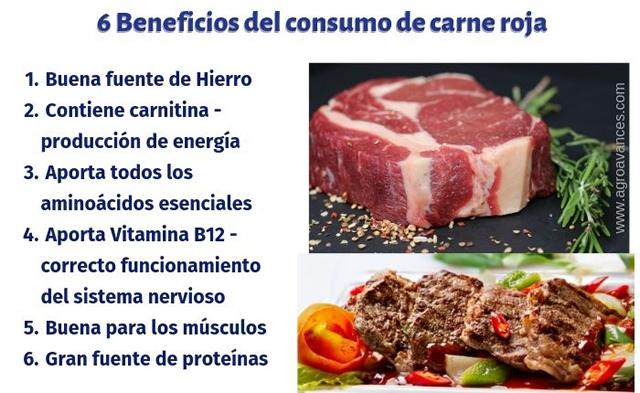 Beneficios de consumir carnes rojas